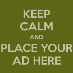 keep calm and place your ad here